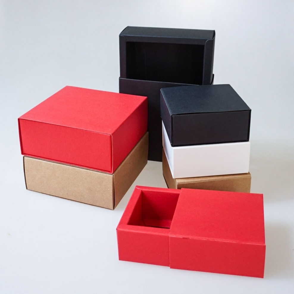 Drawer Sleeve Kraft Paper Folding Packaging Boxes Wholesale