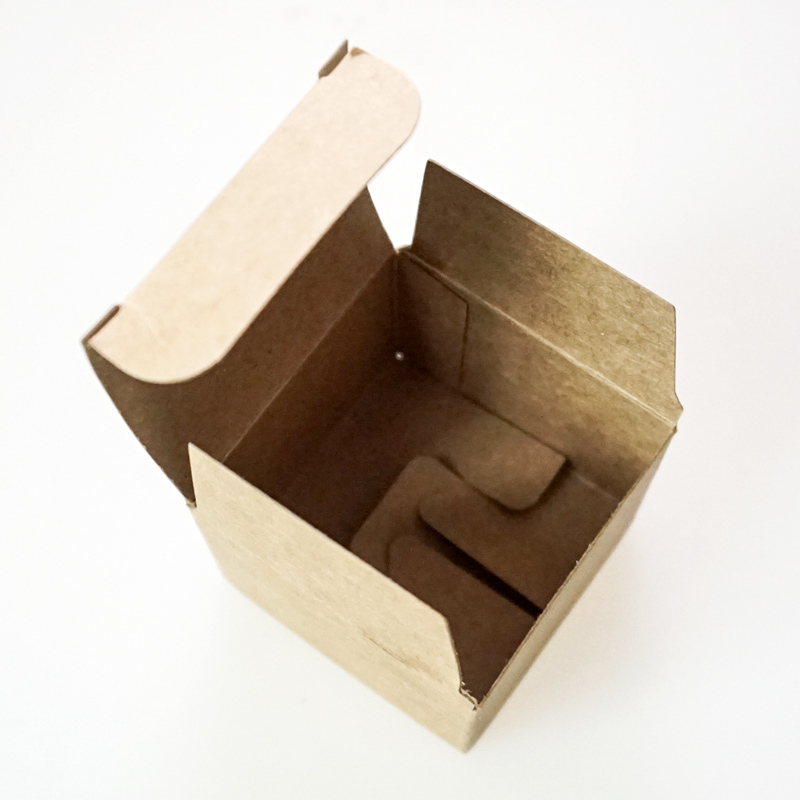 Tuck in Flap Kraft Paper Folding Boxes with Snap Lock Bottom