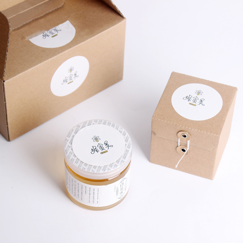Kraft Corrugated Boxes with String & Button