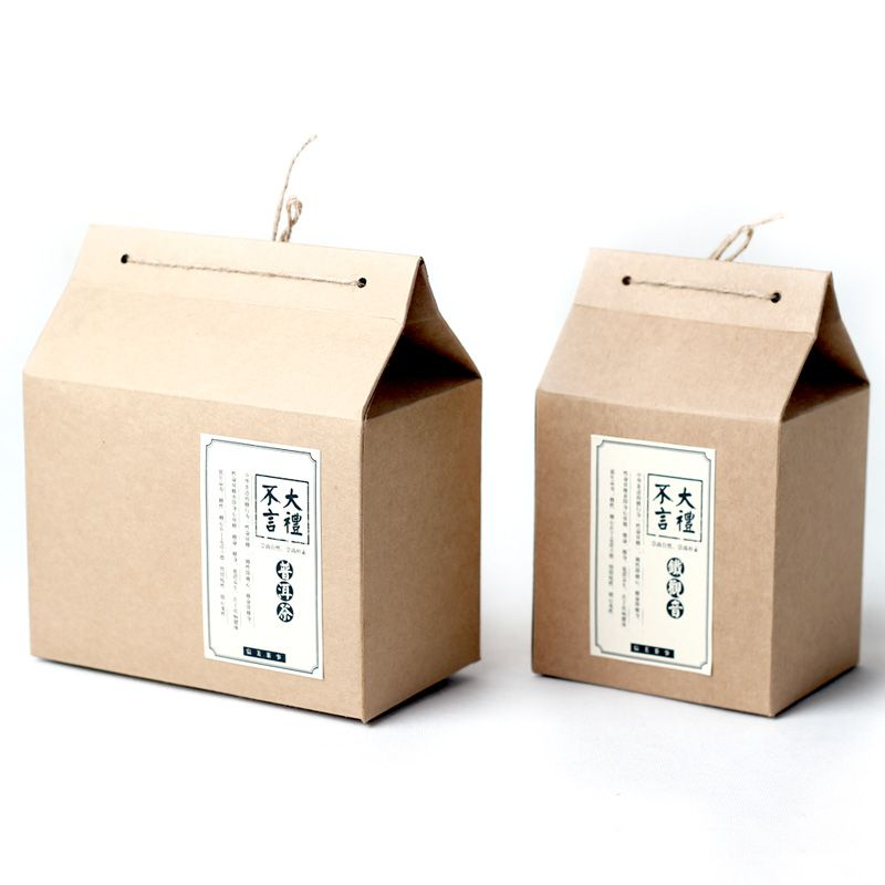 BXFD19-lace-up-with-little-hemp-rope-bottom-stand-up-thick-kraft-paper-bag-boxes-family-white