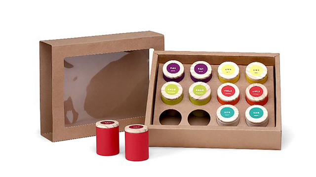 Slim Tree Bark Pattern Paper Canisters with Food Grade Laminated Aluminum Foil Liner & Pine Wood Lid